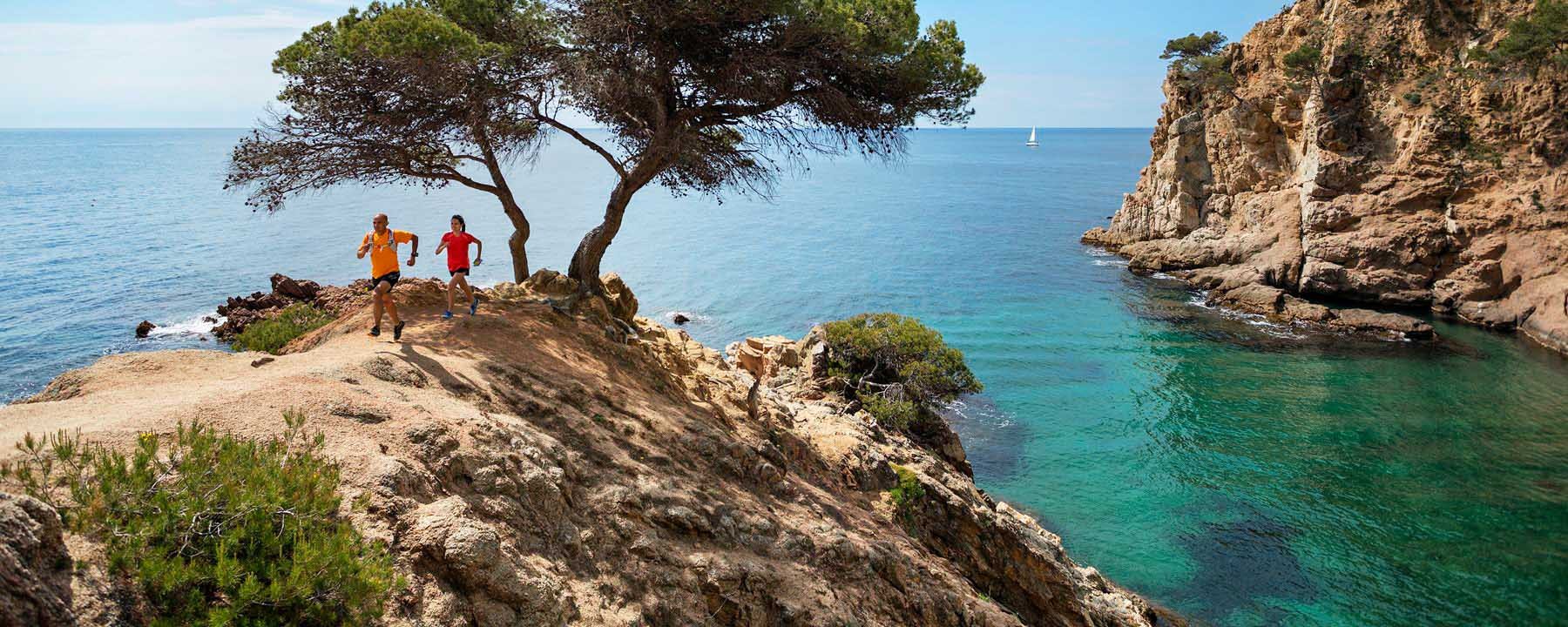 Trail running on the Costa Brava